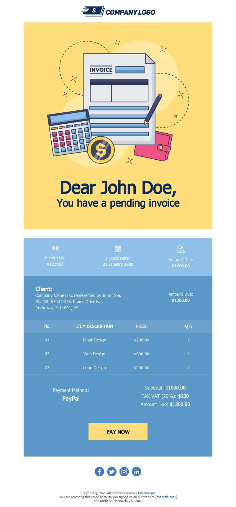 Template Bee Free Email Template Design Email Design Professional Email Templates