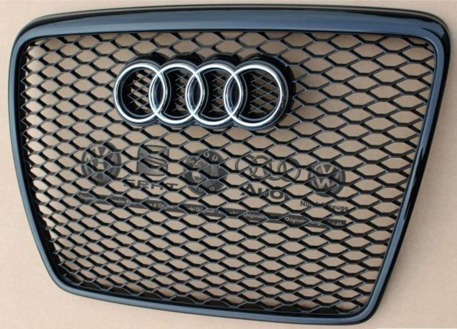 audi a6 rs6 grill piano black grille a6 s6 c6 4f 2004 2011 genuine new ebay audi a6 audi. Black Bedroom Furniture Sets. Home Design Ideas