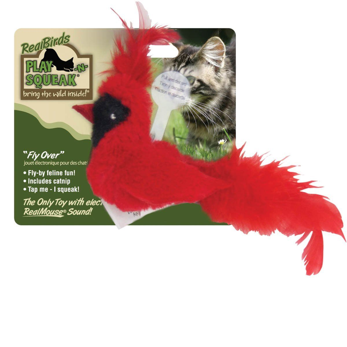 Ourpets Play N Squeak Real Birds Fly Over Interactive Cat Toy You Can Get More Details Here Cat To Interactive Cat Toys Best Interactive Cat Toys Cat Toys