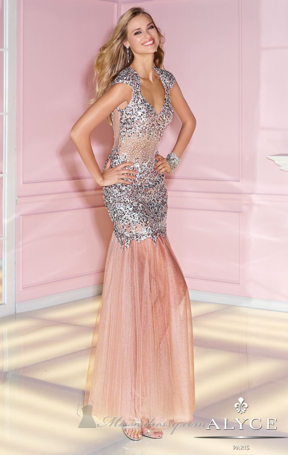 Alyce Paris 6210 by Alyce Prom | Pretty in Pink | Pinterest | Prom ...