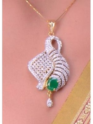 Beautifully fish styled charming emerald cz pendant set 57355 beautifully fish styled charming emerald cz pendant set 57355 jewellery online store buy jewelry online mozeypictures Choice Image