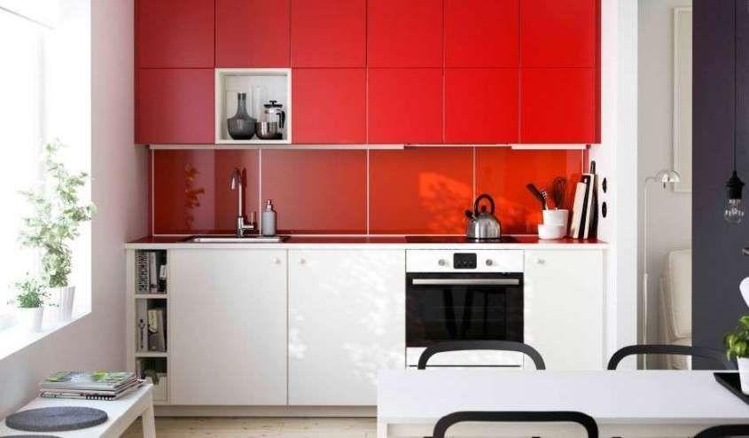 Cucina in bianco e rosso: gli arredi di stile | Full color | Ikea ...