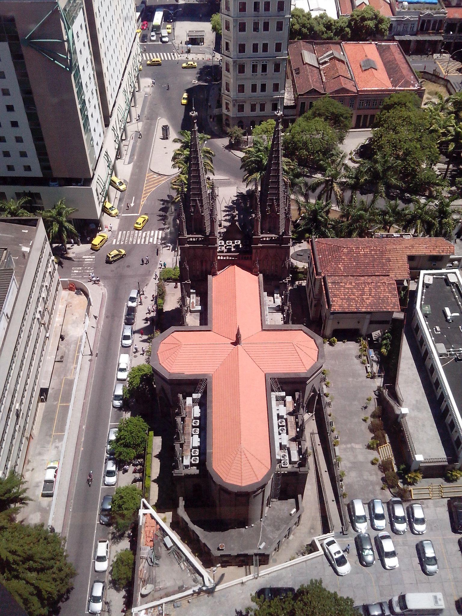 Vista Aerea Da Catedral Presbiteriana No Centro Do Rio De Janeiro