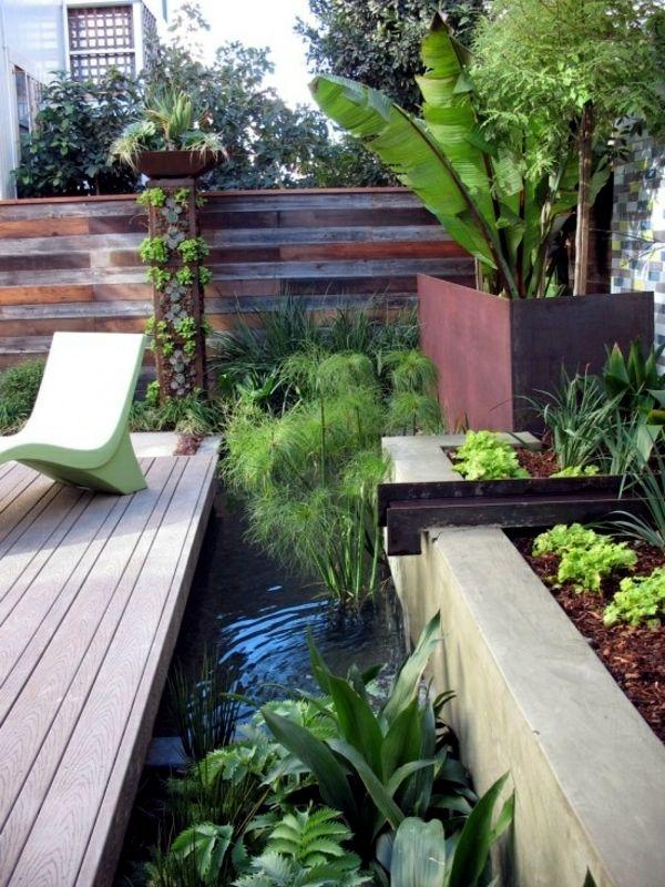 Screening fence or garden wall - 102 Ideas for Garden Design | Mid ...