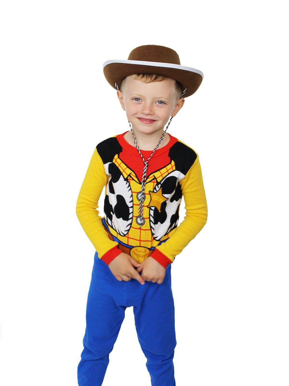 Disney Toy Story Woody Costume Boy/'s Kid/'s Pyjamas