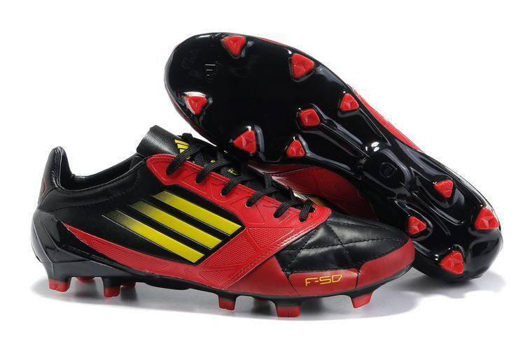 Adidas F50 Adizero Prime SL TRX FG Red Black Yellow Soccer Shoes