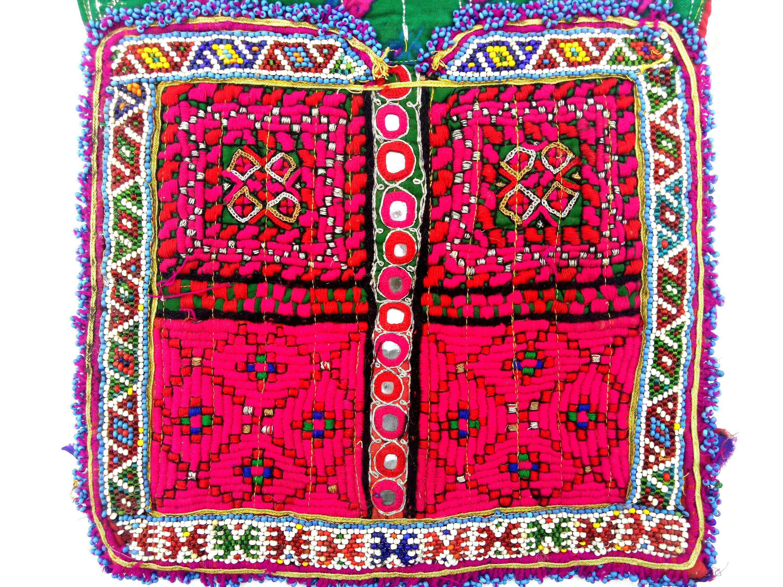 Vintage banjara neck yoke full of zari work and mirror embroidery