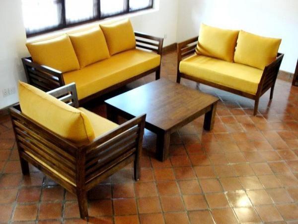 3 2 Wooden Sofa Set Designer Hard Wood