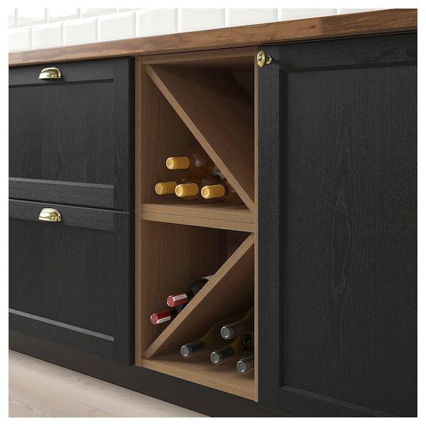 IKEA - VADHOLMA Wine shelf brown, stained ash   Range bouteille cuisine, Range bouteille et ...