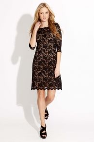 Love this lace dress. Would be super cute with boots!