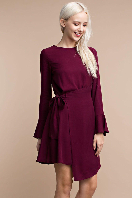 Side Tie Assymetrical Dress