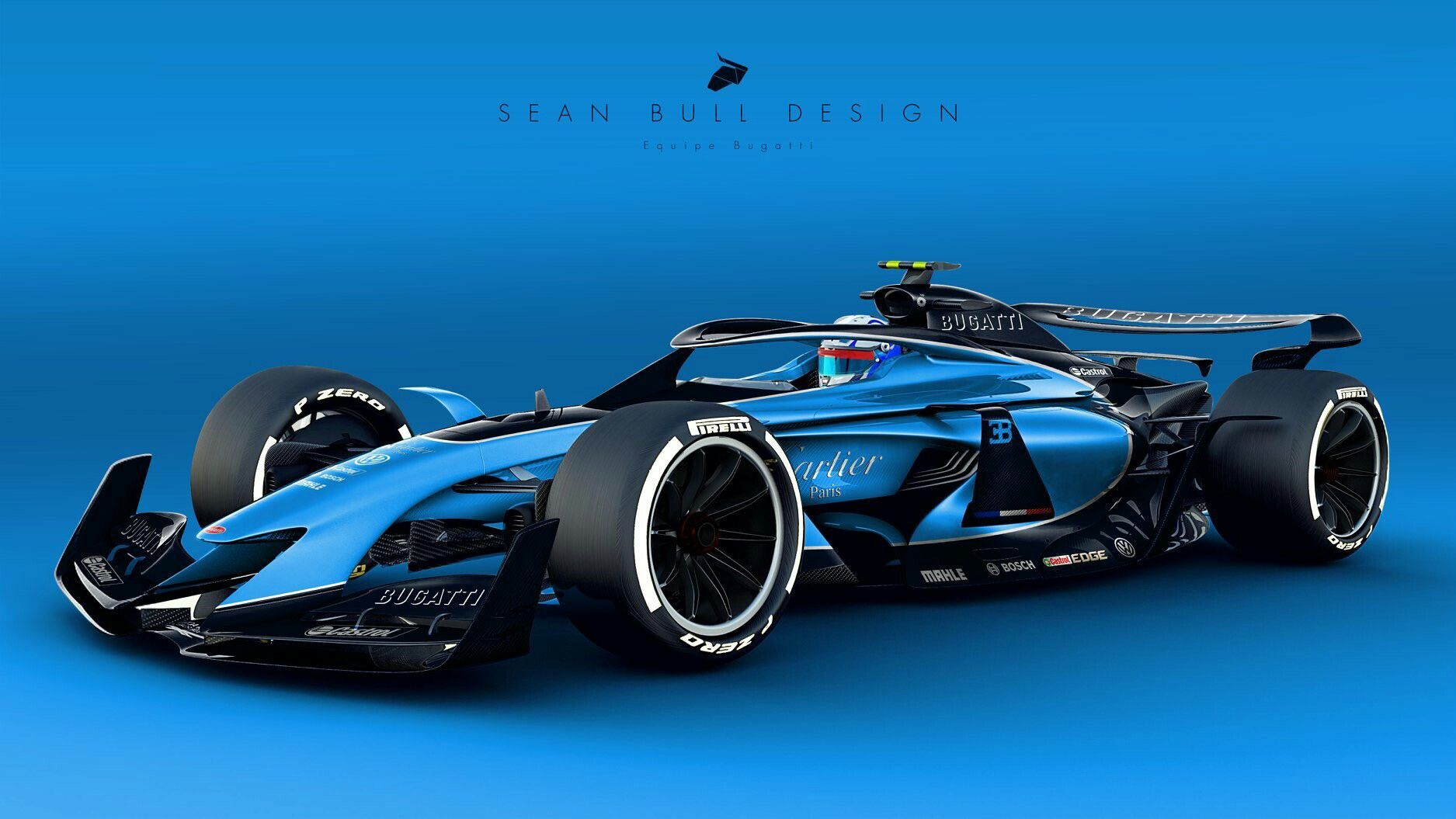 Bugatti Livery On The 2021 F1 Concept What Other Brands Do You Want To See Enter Under The New Regulations Indy Cars Super Cars Concept Cars