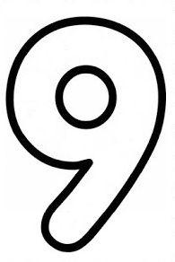 9 Rakamı Sayılar Preschool Math Number Tracing Ve Preschool