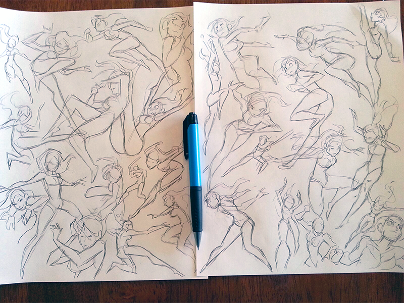 Mel Milton — drawing references female anatomy action poses studies ...