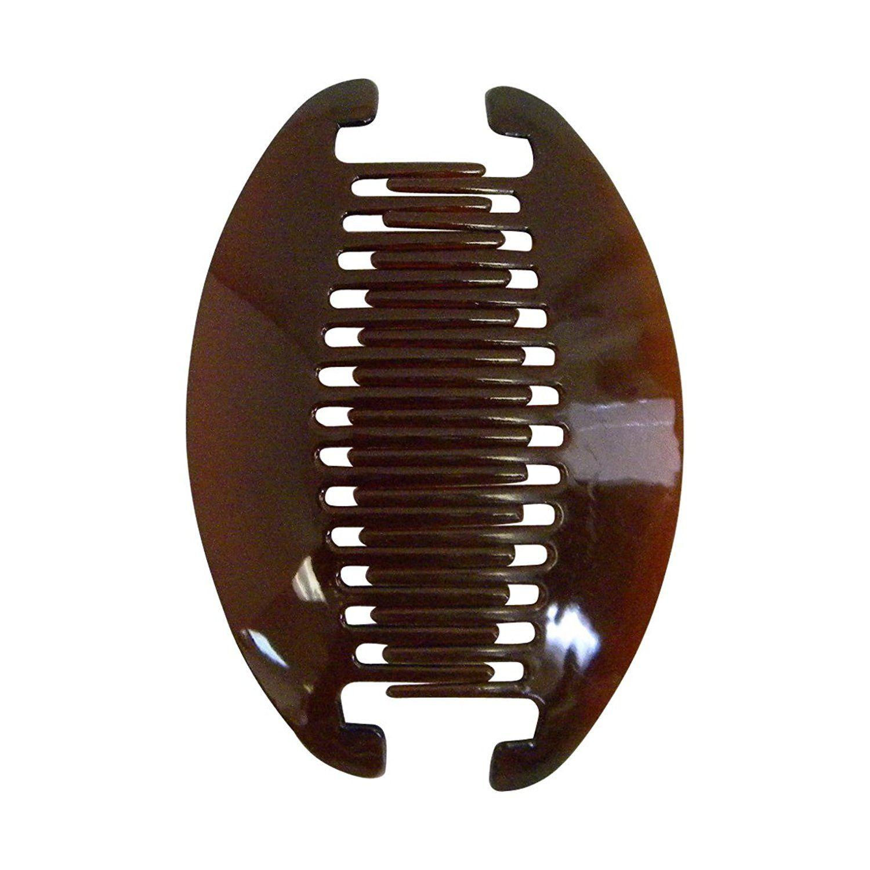 "Black//Brown 6.3x2.8/"" Banana Clip Hair Clincher  Two Sides Comb"