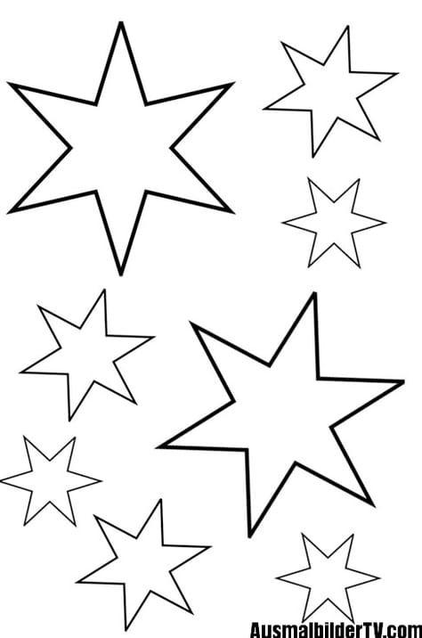 Sterne Zum Ausmalen Sterne Basteln Aus Papier Sterne Basteln Vorlage Sterne Zum Ausdrucken