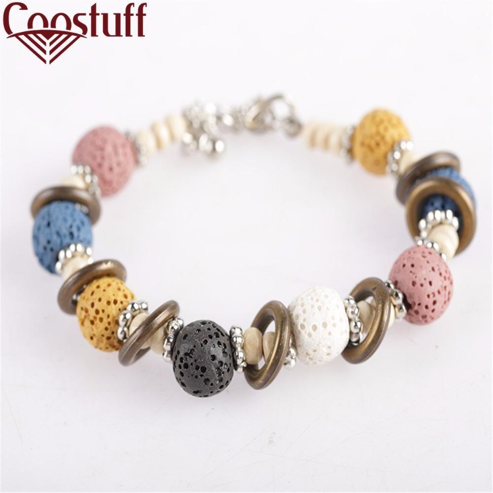 Visit to buy lava stone beads bracelet beautiful bangles
