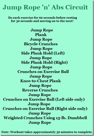 Jump Rope 'n' Abs Circuit