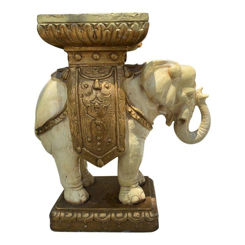 plaster elephant coffee table