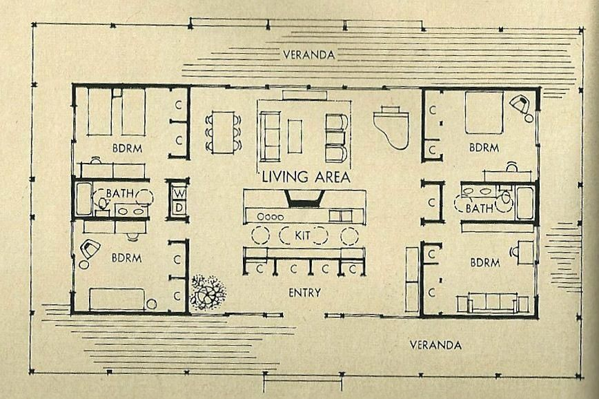 Mid Century Modern House Plans Mid Century House Plans I Heart Living In Portland Ore Mid Century Modern House Plans Modern House Plans Modern Floor Plans