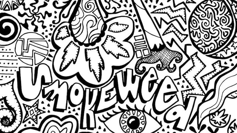 The Stoner S Coloring Book Is Relaxing Af Visit Www