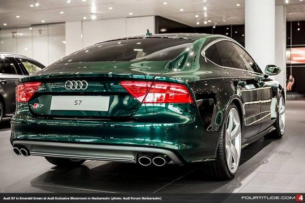 Audi Exclusive Emerald Green Pearl S7 At Audi Forum Neckarsulm