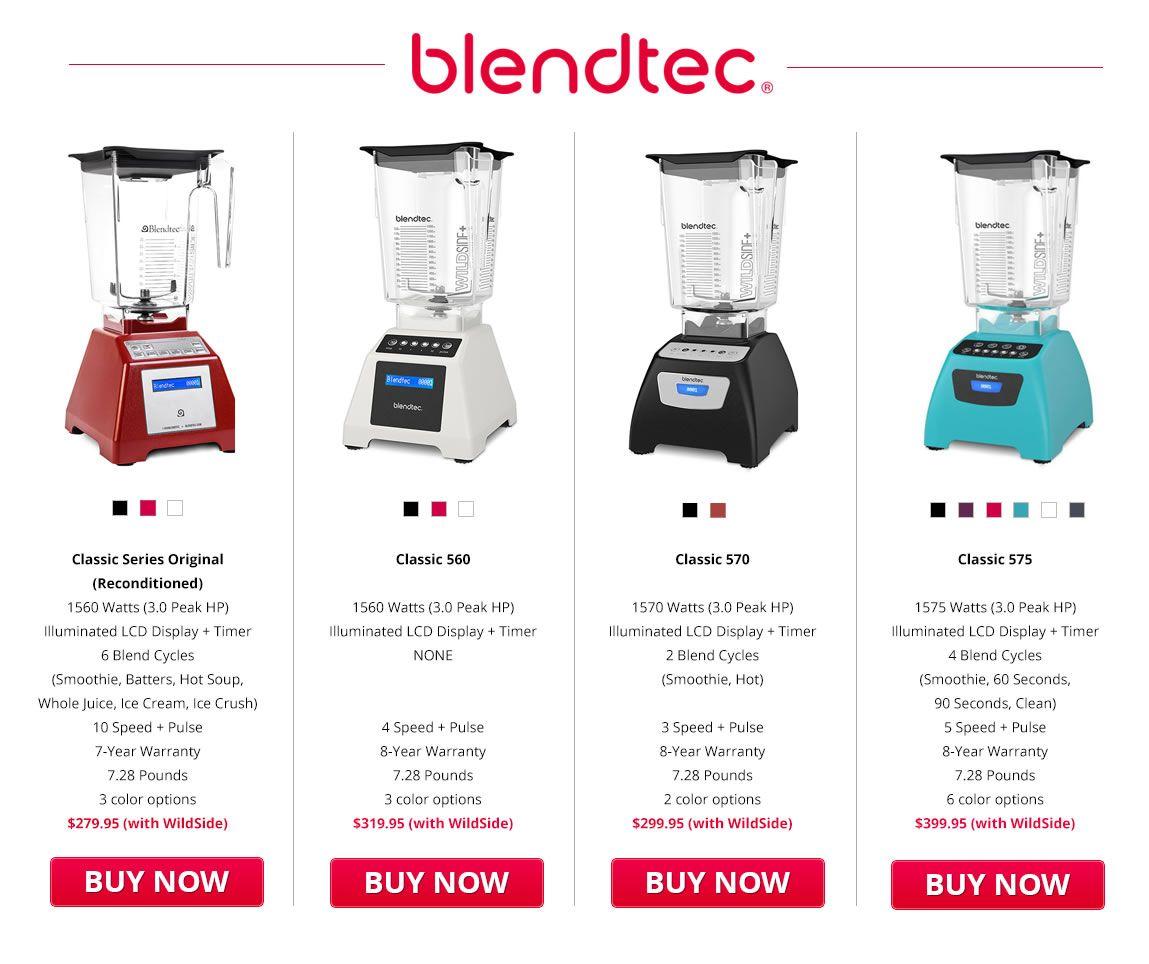 Blendtec Classic 575 Vs 570 Review Comparing Blendtec Classic Blenders Blendtec Blendtec Blender Blender
