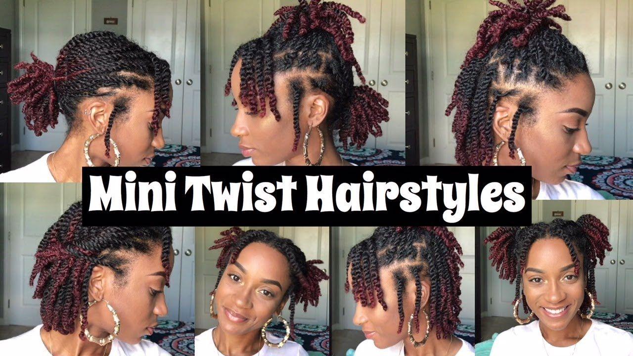 7 Quick Mini Twist Hairstyles Natural Hair Youtube Natural Hair Twists Twist Hairstyles Mini Twists Natural Hair