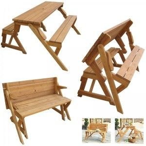 Attractive Folding Picnic Table   Makes A Great Bench!