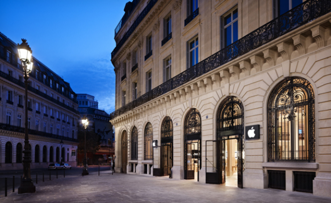 Apple Store in Paris robbed at New Years Eve night. - CHIP Online Indonesia