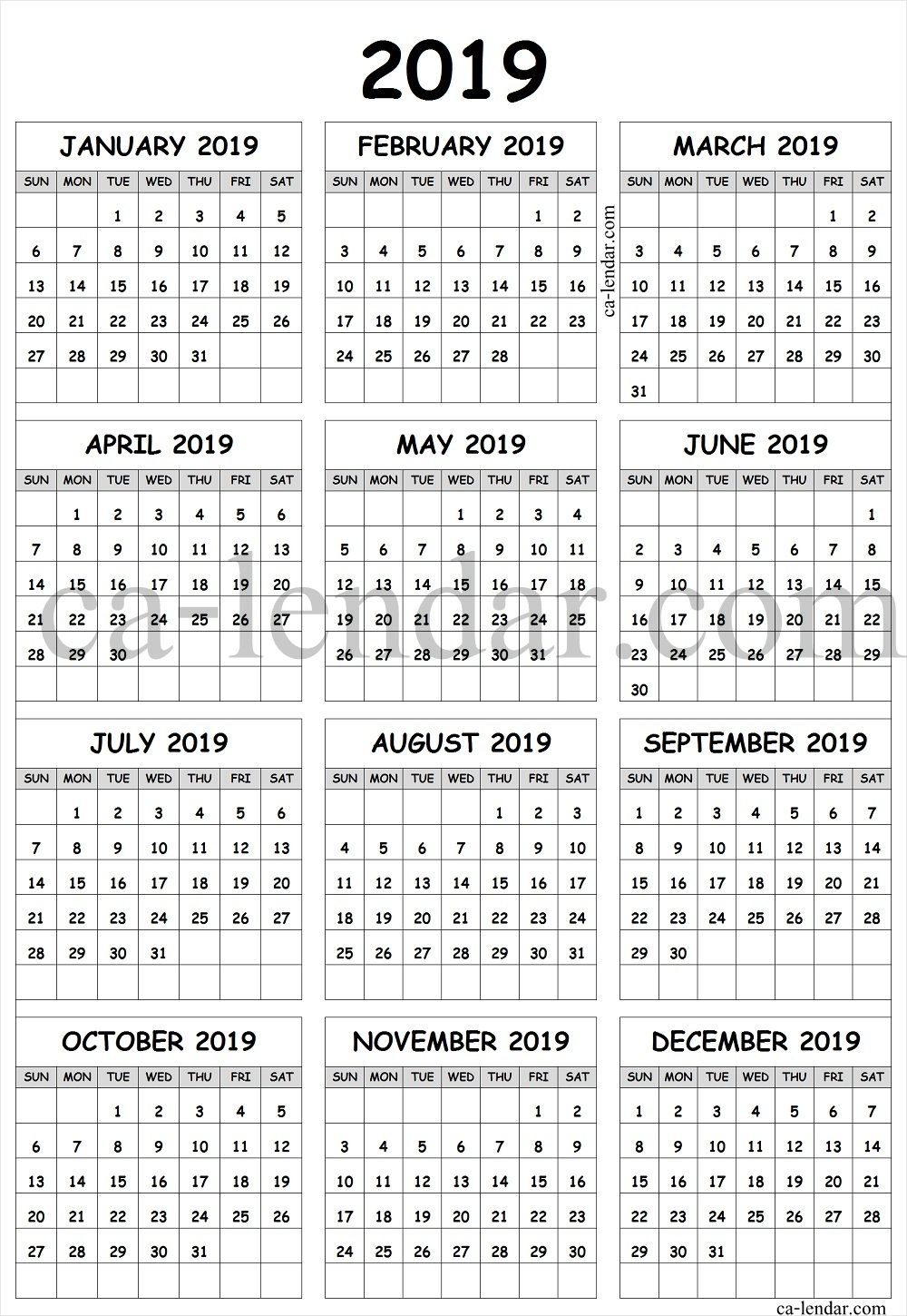 graphic relating to Printable Calendar With Week Numbers known as Printable 2019 Calendar With 7 days Figures United kingdom Printable