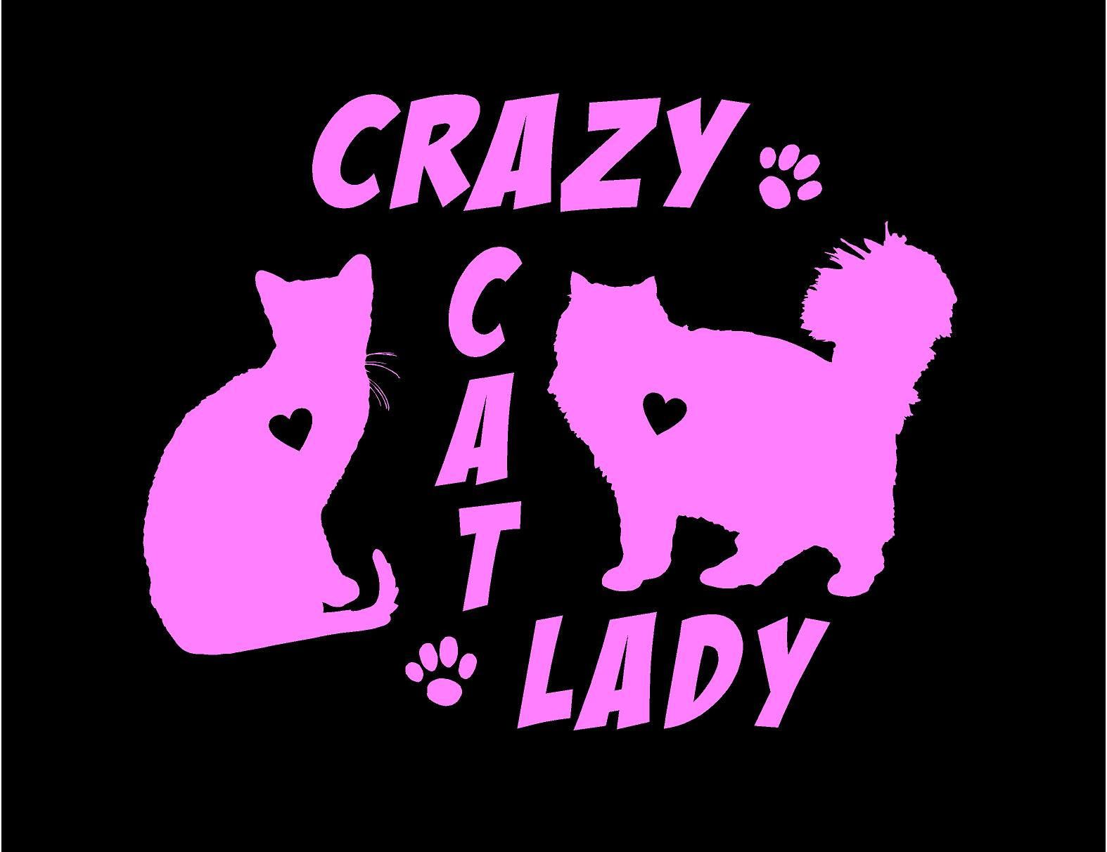 Crazy Cat Lady Decal Car Decal Vinyl Decal Cat Lady Decal Sticker Custom Car Vehicle Auto Decal Cat Decals Truck Window Stickers Crazy Cats Cat Decal [ 1212 x 1574 Pixel ]