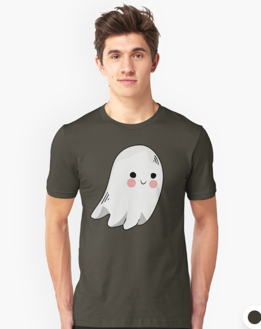 Funny Ghost Slim Fit T Shirt Cute Ghost Hemd