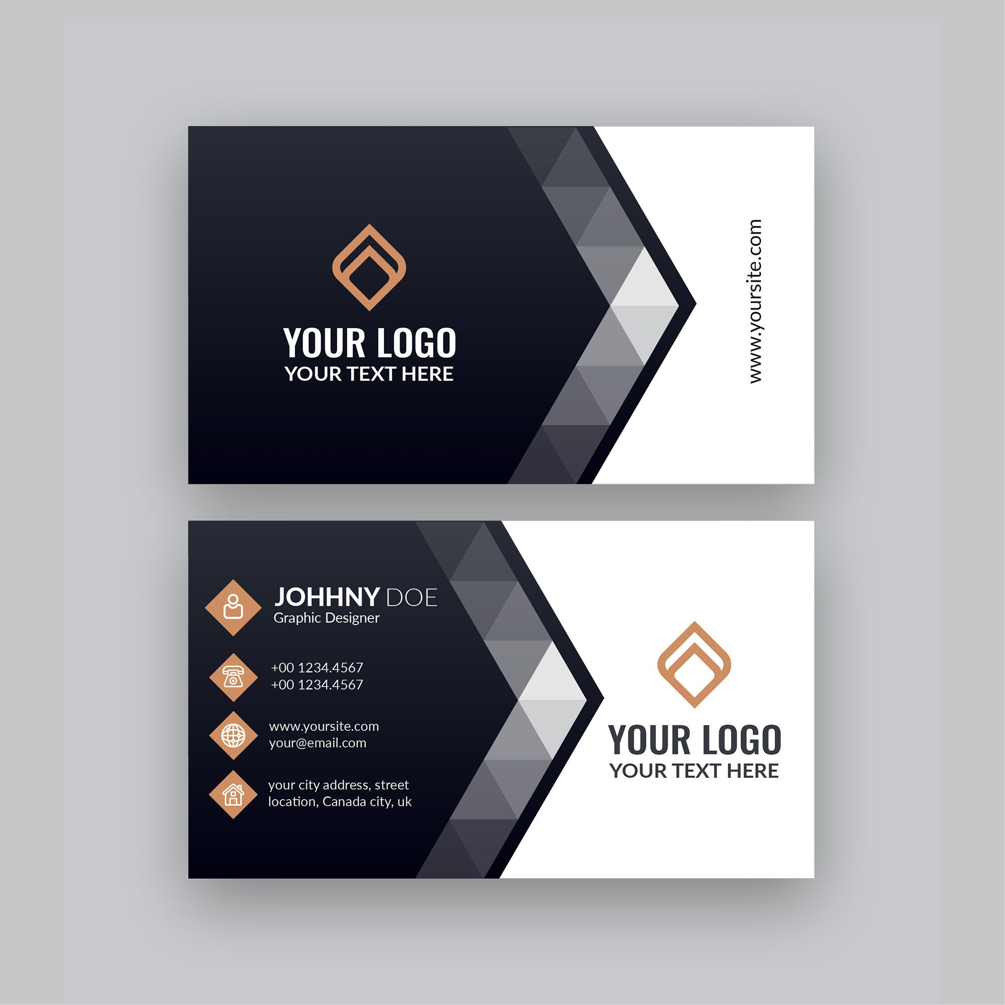 The Breathtaking Modern Company Visiting Card Template Free Business Card With Graphic Design Business Card Visiting Card Templates Free Business Card Design