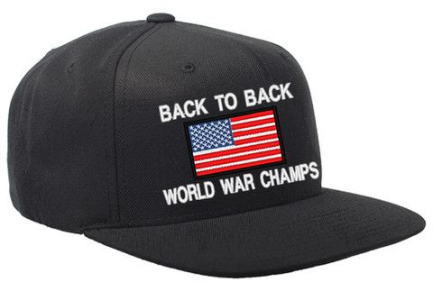 Back to Back World War Champs USA Snapback Hat  dd5a92a557a