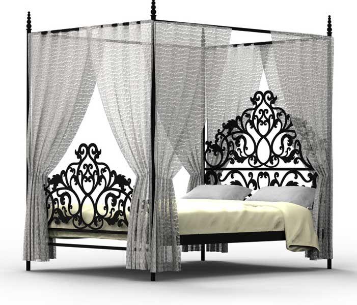 Cama dosel forja dayra decoraciones pinterest camas - Habitaciones de forja ...
