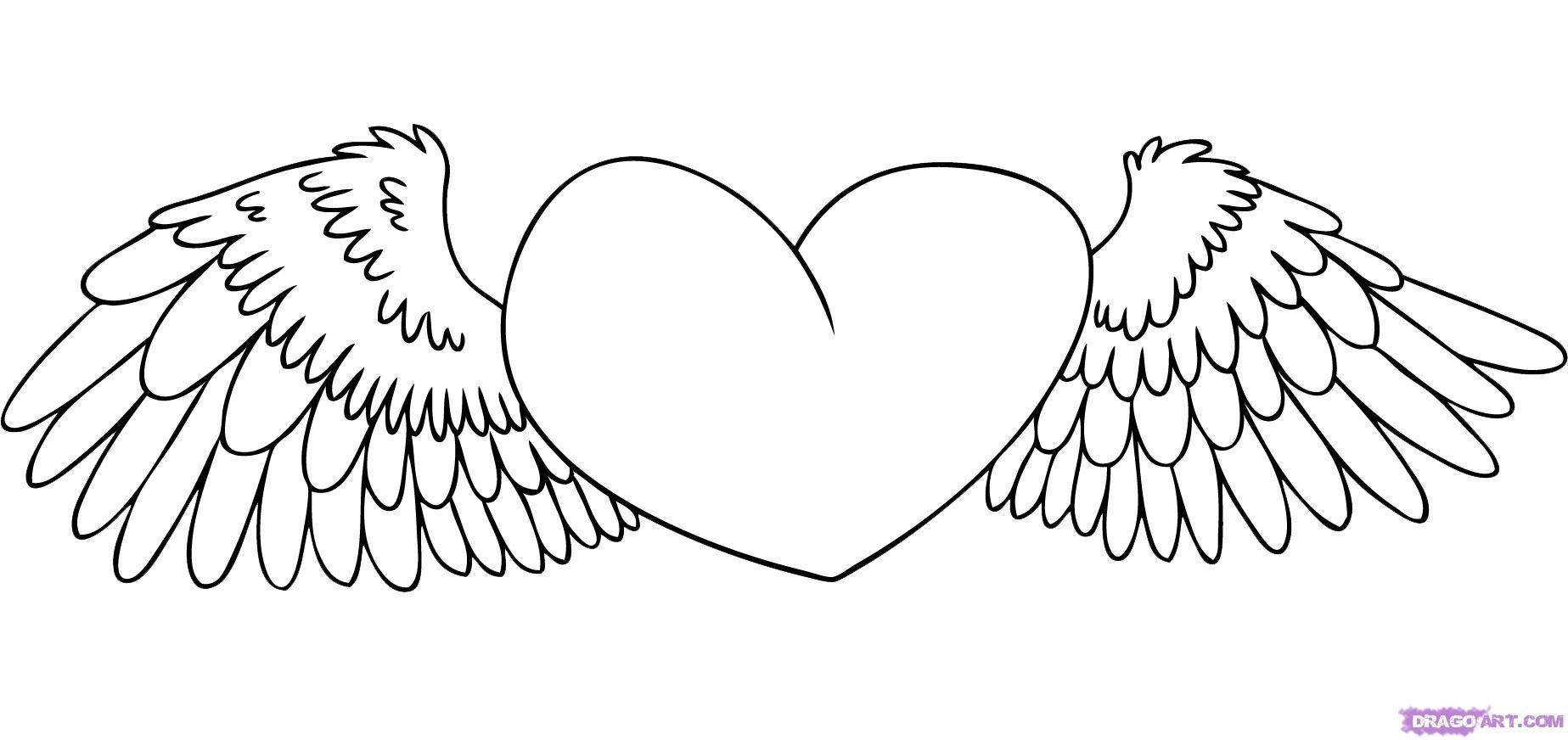 Easy Drawings Of Hearts | Kids Drawing Coloring Page - Cliparts.co ...