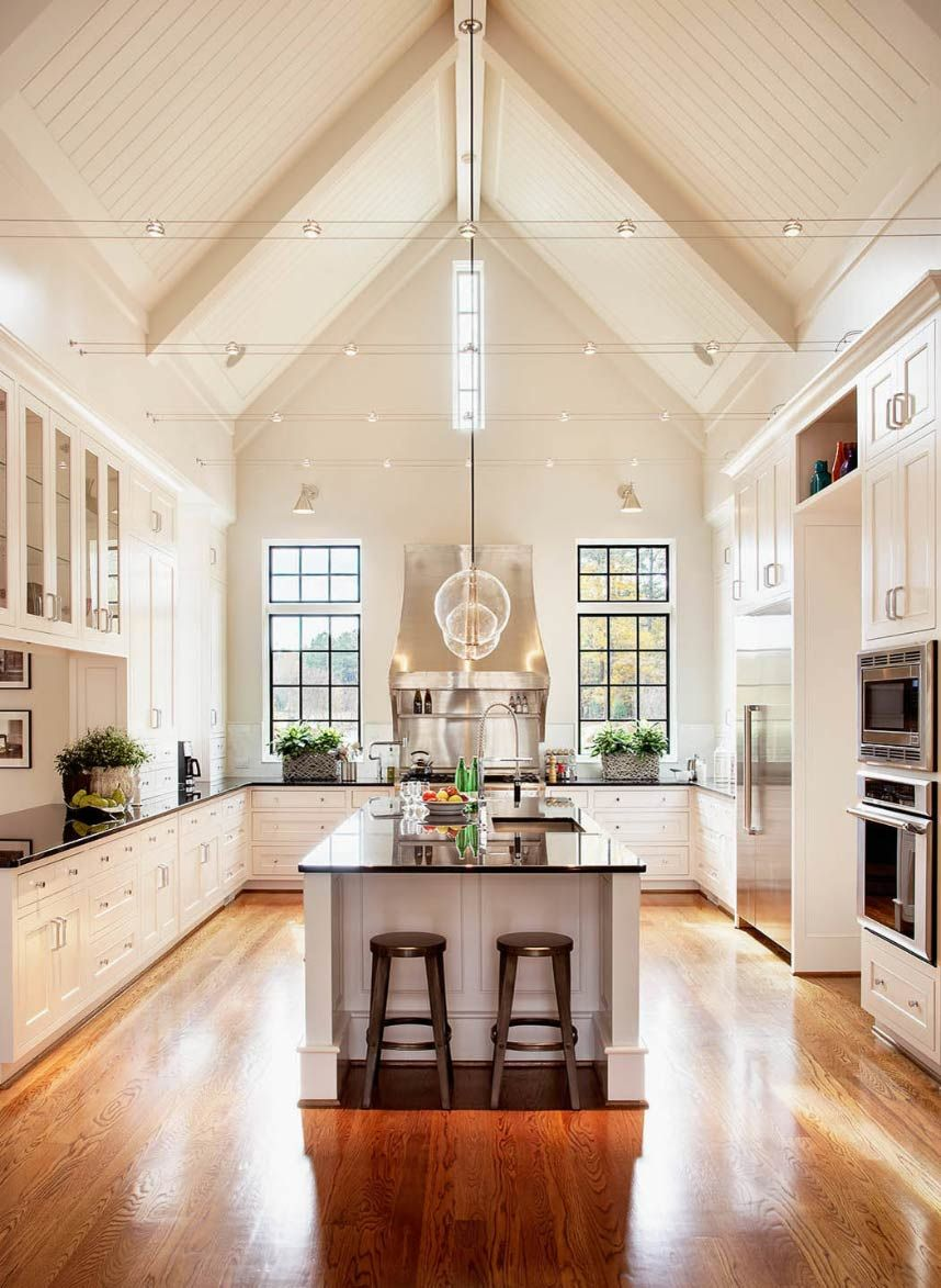 Vaulted Ceilings in the Kitchen: Pros and Cons - Plank and Pillow #vaultedceilingdecor