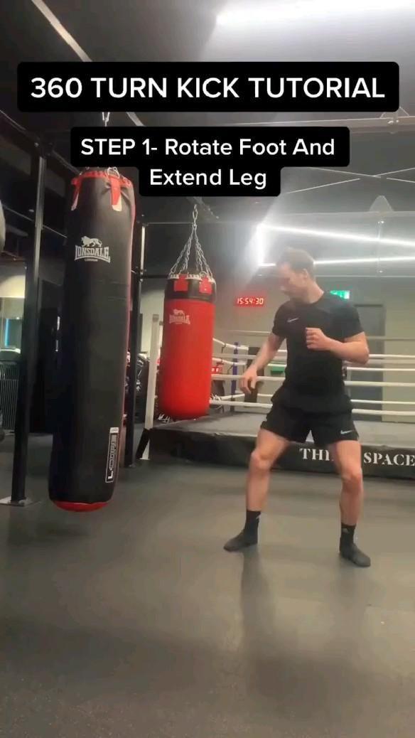 360 turn kick tutorial