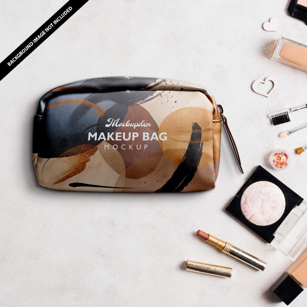 Download Free Makeup Bag Mockup Psd Template Let S Introduce You To This Beautiful Designer Makeup Bag Mockup That Looks Very Attract Bag Mockup Makeup Bag Free Makeup
