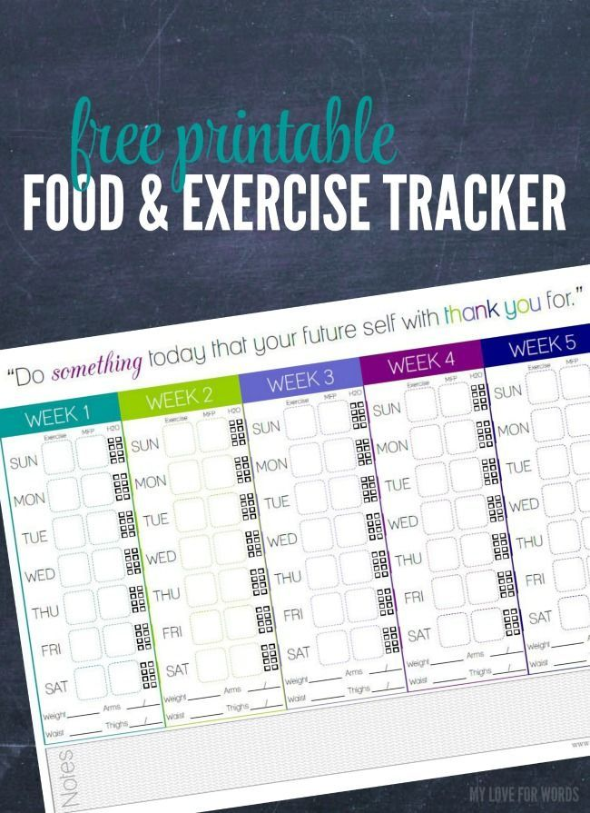 Freebie Friday Food  Exercise Tracker Thrifty Thursday @ LWSL