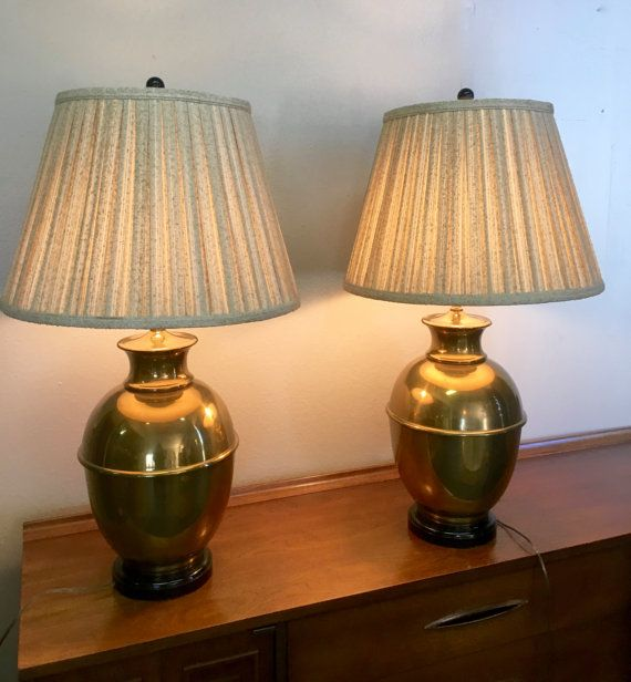 Paul Hanson Mid Century Solid Br Table Lamp With Original