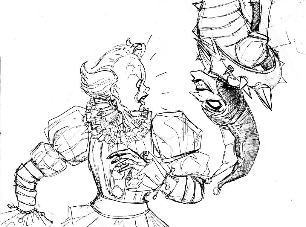 Pennywise And Shaco By Wildo123 On Deviantart In 2020 Art Sketches Sketches Art