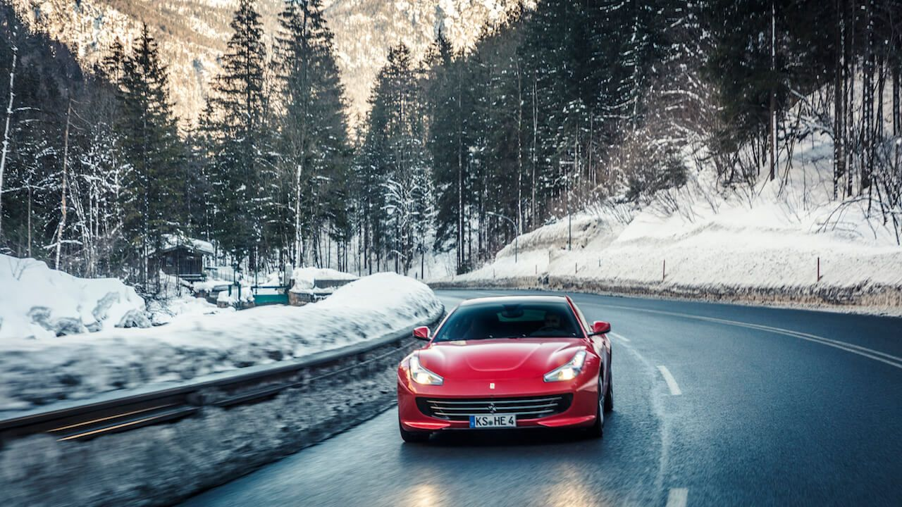Driving The Ferrari Hatchback On Snow A Gentleman S World Hatchback Ferrari New Ferrari