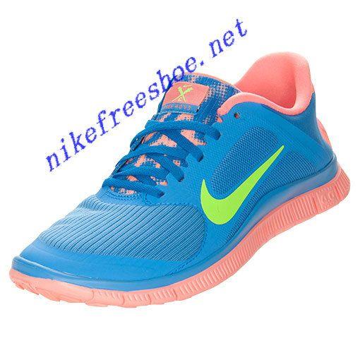 2071b001f885 Nike Free 4.0 V3 Womens Distance Blue Atomic Pink Lime 580406 463 ...