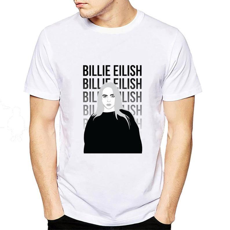 Billie Eilish Billie Eilish Tshirt Billie Eilish Shirt Etsy Cotton Tshirt Billie Eilish Cheap Vinyl
