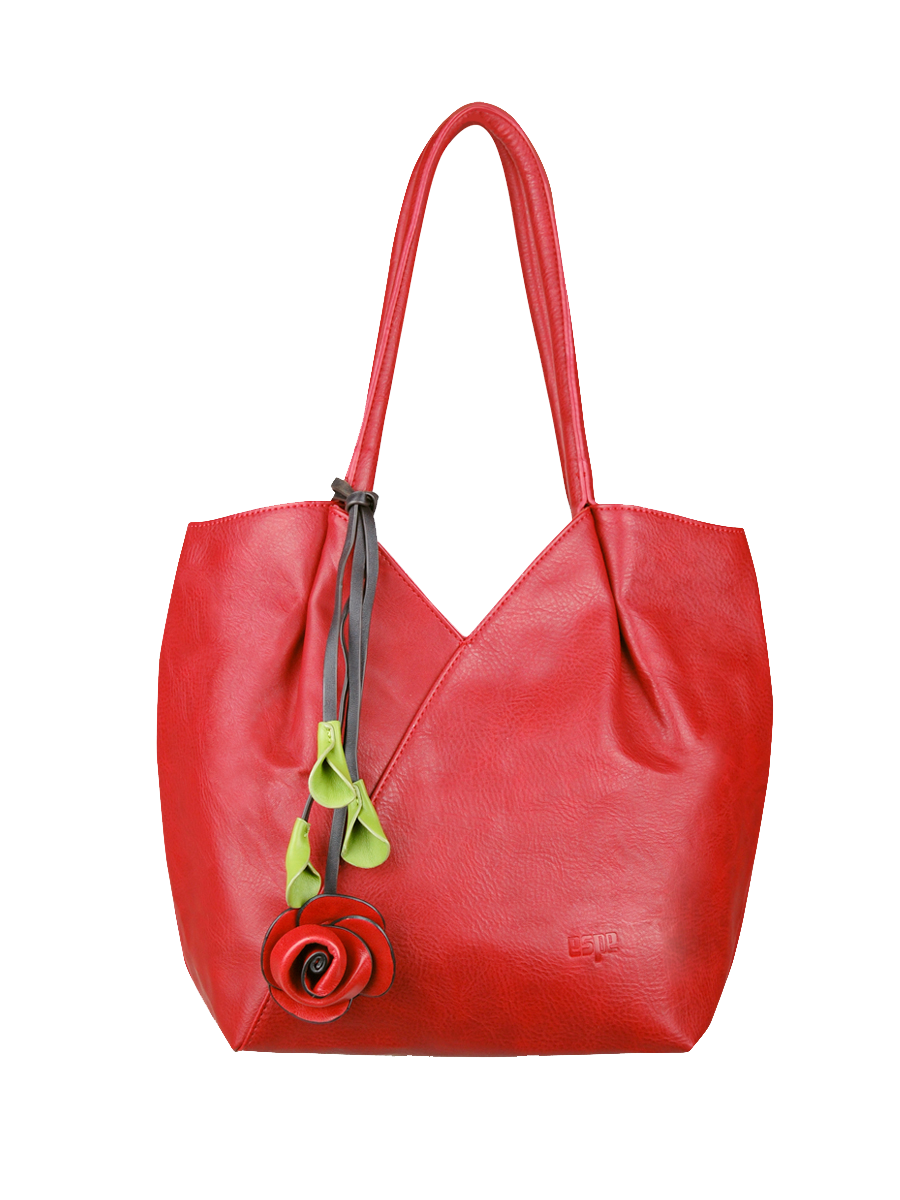 74fef6964c Trixie Vegan Leather Shoulder Bag by ESPE in Red
