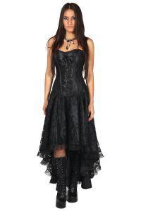 burleska corset gothic dress mollflander dress black. Black Bedroom Furniture Sets. Home Design Ideas