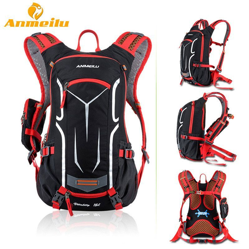 ANMEILU 18L Waterproof Camping Backpack +2L Water Bag Outdoor Sports  Climbing Riding Cycling Travel Bag Sport Rucksacks Knapsack 14709c7a9944c