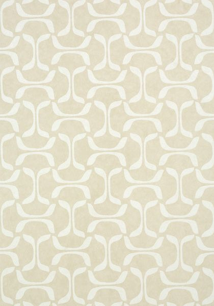 Saroka #wallpaper in #beige from the Graphic Resource collection. #Thibaut